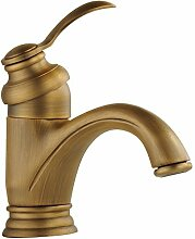 Suhang Wasserhahn Kupfer Antik aus dem Wasserhahn Hot und Kälte des Waschbecken Wasserhahn nur Loch Armatur Waschbecken