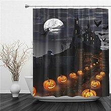 SUHETI Duschvorhang 180x180cm,Halloween Thema
