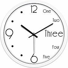 SUIBIANBA Wanduhr, Ultra-Leise Uhr, Runde Wanduhr