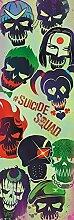 Suicide Squad - Faces - Tür-Poster Door Poster - XXL-Format Film Kino TV Action Größe 53x158 cm + 2 St. Posterleisten Kunststoff 62 cm schwarz