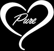 SUIFENG Autoaufkleber 11.8X12.9Cm Pure Heart Cute