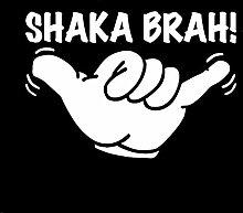 SUIFENG Autoaufkleber 14Cmx9.9Cm Shaka Brah Hawaii