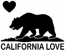 SUIFENG Autoaufkleber 15.2Cmx11.8Cm California