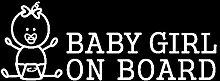 SUIFENG Autoaufkleber 16.5Cmx6Cm Baby Mädchen An