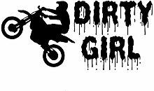 SUIFENG Autoaufkleber 19.1Cmx8.9Cm Dirty Girl Dirt