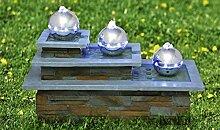 Sukima Decor Zimmerbrunnen mit LED Skala, Harz,