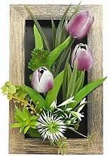 Sukkulenten Kunstpflanze Fotorahmen, Calla Lilie