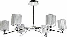 SUL EGO - 6-flammige Designer-Lampe mit silbernen