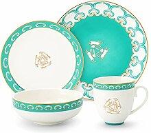 SULIVES Keramik Geschirr Set Teller, Schalen,