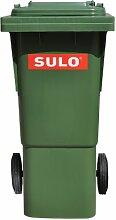 SULO 60 Liter Abfalleimer, Papierkorb, Mülleimer, recycling Abfalleimer, Haushaltsmüll, mit Deckel, grün (22264)