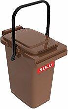 SULO Müllbehälter Mülleimer MB 25, Inhalt 25 l - Braun