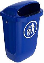 SULO Papierkorb Mülleimer Außenbereich DIN PK, Inhalt 50 l - Blau