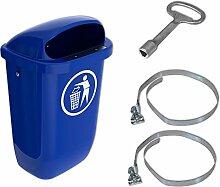 Sulo-Set Papierkorb 50 Liter blau mit 2