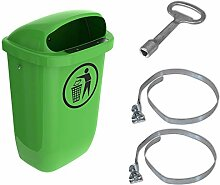 Sulo-Set Papierkorb 50 Liter grün mit 2