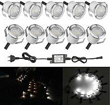 SUMAOTE 10 Stück LED Einbaustrahler LED
