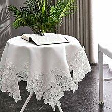Sumc Kleine quadratische Tischdecke aus weißer