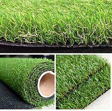 Sumc Kunstrasen Rasenteppich für Garten Balkon Florhöhe 30mm Kunststoffrasen Teppich Grün 100x200cm