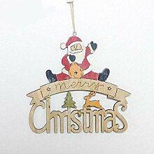 SummarLee Weihnachten Holzetikett Holz bemalte
