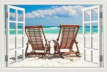 Summer Beach Sunshine Recliner Coconut Tree blauer