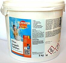 Summer Fun 0505705SF Chlor - Langzeit Tabletten 200g im 5 kg Eimer