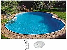 SUMMER FUN 3-tlg.Set: Achtformpool, 650 x 420 x 120 cm 650 cm, 420 cm, 120 cm