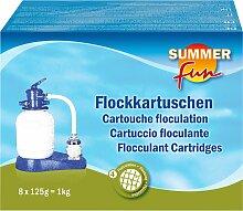 SUMMER FUN Poolpflege Flockungskissen, 8 x 125 g 1