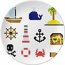 Summer Sail Treasue Hunt Pixel Porzellan