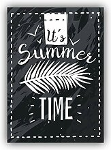 Summer Time Slogan - Self-Adhesive Sticker Car