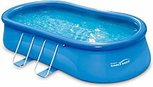 Summer Waves p1181042F0fr übererdige Pools aufblasbar selbsttragend Oval, 10977L, blau, 5.49x 3,05x 1.07m