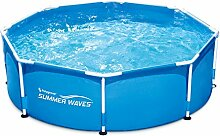 Summer Waves p20008300000übererdige Pools Rohrmotor Metall Frame rund, 2650L, blau, E279A x 0,76mm