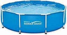 Summer Waves p20010300000übererdige Pools Rohrmotor Metall Frame, 4519L, blau, 3,05x 0,76m