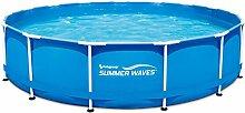 Summer Waves p2001536F0fr übererdige Pools Rohrmotor Metall Frame rund, 13168L, blau, 4.57x 0,91m
