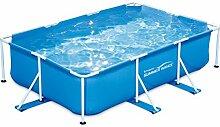Summer Waves p30710300000übererdige Pools Rohrmotor rechteckig, 3520L, blau, 3x 2x 0,74m