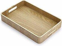 SUMTREE Dekoratives Serviertablett aus Holz mit 2