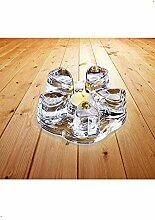Sun's Tea Stövchen aus massivem Kristallglas
