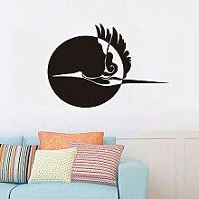 Sun And Flying Stork Wandaufkleber Wohnkultur
