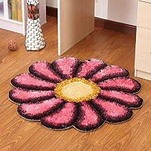 Sun Blume runden Teppich, Schlafzimmer, Wohnzimmer, Bett, Frontkorb, Computer Drehstuhl, Kinder-Cartoon, Hochzeit Hochzeit Teppich , #10 , diameter 90cm
