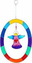 Sun Catcher Colorful Engel zum Aufhängen, oval Shabby Chic Home Geschenk