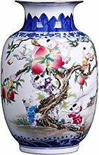 SUN Chinesische Antike Handbemalte Blau-weiße