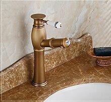 SUN LL Antique Wasserhahn Waschbecken Waschbecken Waschbecken Hot and Cold Wasserhahn Aufsatz Waschtischbatterie