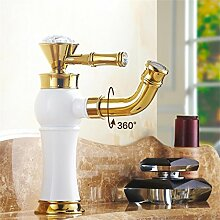 SUN LL Europäische Antike Farbe drehbare Wasserhahn, Waschbecken Wasserhahn ( farbe : Weiß )