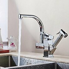SUN LL Küchenarmaturen, drehbare Hähne, Single Handle Waschbecken Wasserhahn, versenkbaren Wasserhahn