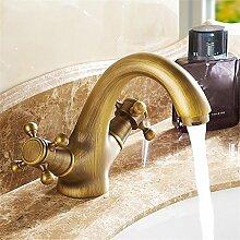SUN LL Waschbecken Wasserhahn Antique Inspiriert Design - Antik Messing Finish Wasserhahn