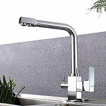 SUN ll-Wasserhahn BH-6688 Kupfer Wasserhahn Körper Rotation heißer und kalter Spüle Wasserhahn Hause Filter Wasserfilter