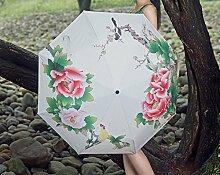 Sun Regenschirm Silber Kleber Anti-UV Sonnenschutz Sonnenschirme Dual Use Regenschirm Fold Drei Fold Umbrella Sunny Regenschirm