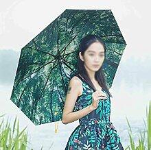 Sun Regenschirm Vinyl Anti-UV Sonnenschutz Sonnenschirme Fold Drei Fold Umbrella Dual Umbrella