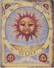 SUN Sonne Motiv Nostalgie Blechschild