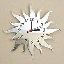 Sun Spiegel - 25cm Uhr Spiegel mit schwarzen Hände