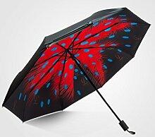 Sun Umbrella Vinyl Weibliche Shade Double Layer Sonnenschutz Anti-UV Regen und Regen Regenschirme