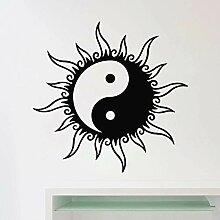 Sun Wandtattoo Yin Yang Zeichen Aufkleber